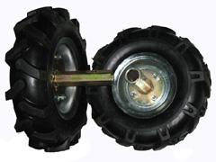 Roue de motoculteur avec pneu agraire