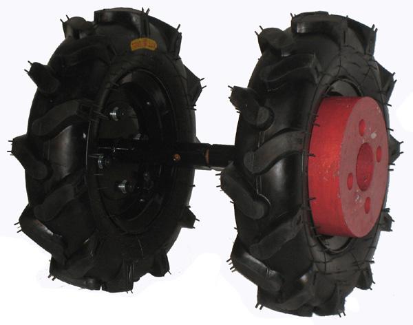 Jeu de roues avec pneus agraires et masses